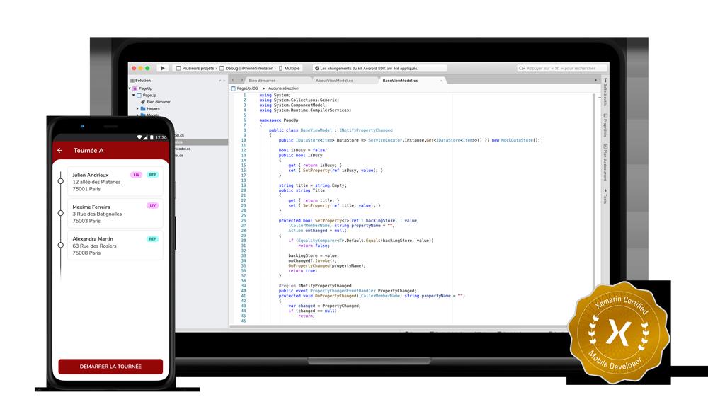 Développement sur mesure Page Up - Application mobile